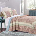 Barefoot Bungalow Palisades Bedspread and Sham Set - Queen Pastel
