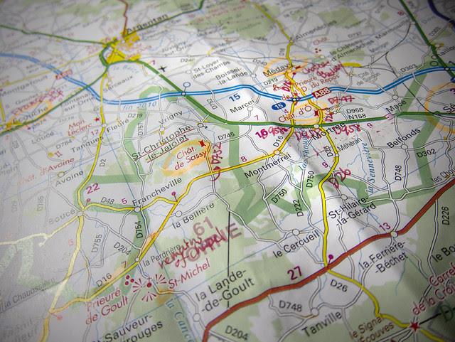 Drive map - Nomandy