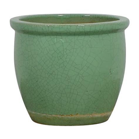 ceramic light green plant holder decor