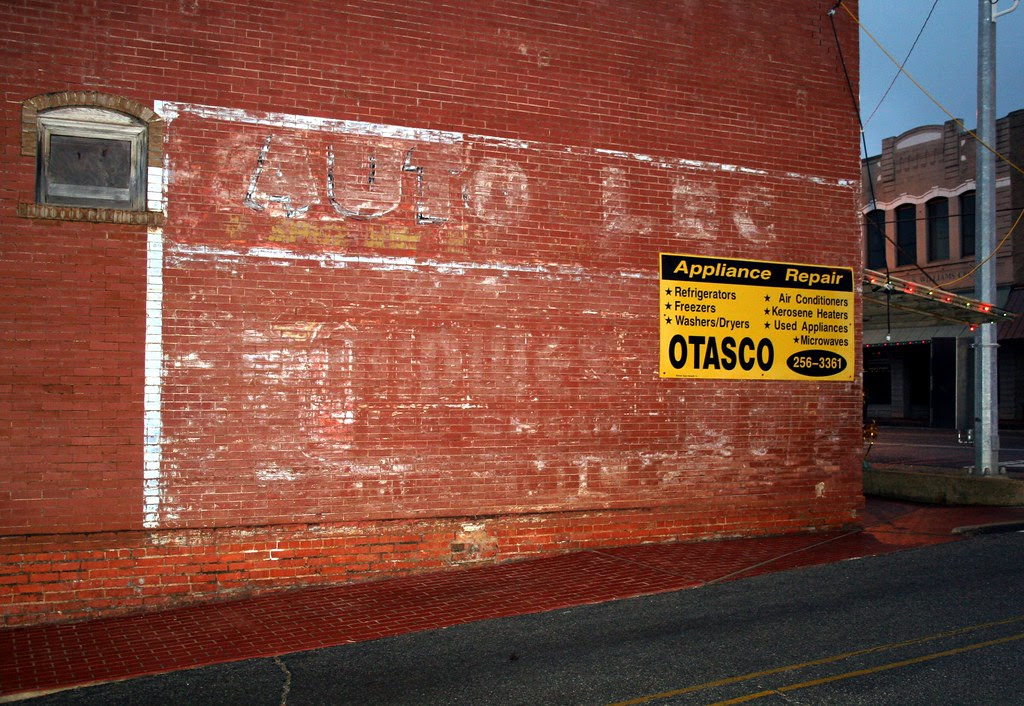 otasco building ghost sign