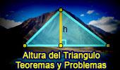 Altura del Triangulo, Teoremas y Problemas, Geometria Plana.