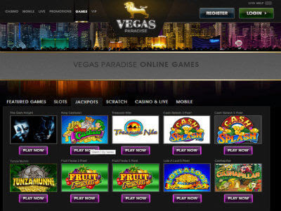 Play Slots Online for Free at Vegas Paradise Online Casino