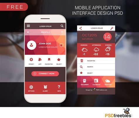 mobile home screen ui design  psd  nice