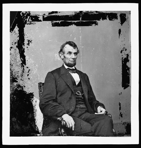 [Abraham Lincoln, U.S. President.  Seated portrait, facing right] (LOC)