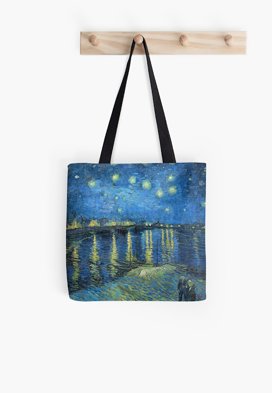 'Starry Night Over the Rhone' Tote Bag by Igor Drondin