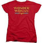 Wonder Woman Logo Women's Original Classic T-Shirt Red