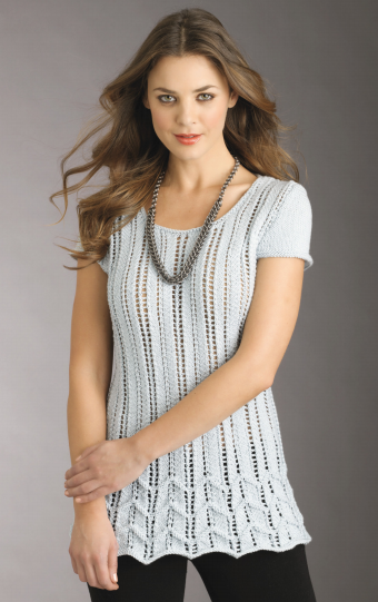 Craft Passions Lace Chevron Top Free Knitting Pattern