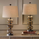 Naomi Smoked Glass Sphere Table Lamp, 2-pack