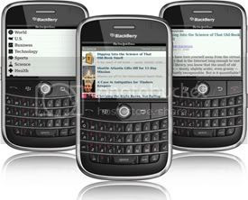 Free NYT APP for BlackBerry