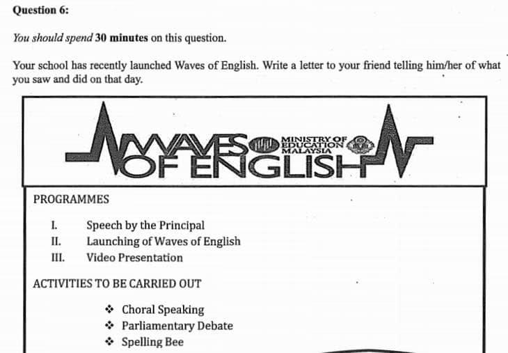 Trial Paper English PT3  Soalan Bahasa Inggeris