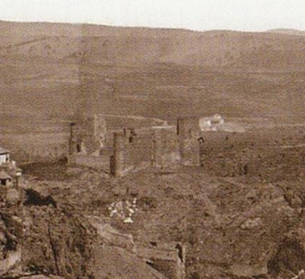Castillo de San Servando en 1872. Fotografía de Jean Laurent (detalle)