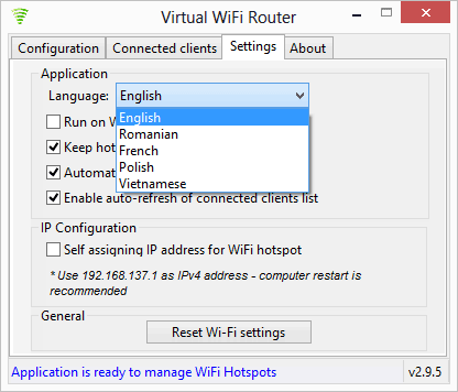 Virtual WiFi was updated to version 2.9.5