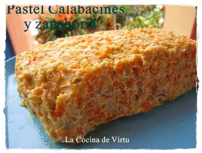 Thermomix pastel calabacines y zanahoria