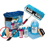 Wash Wax All Waterless Mop Kit w/ Deluxe Pole (4' to 9')
