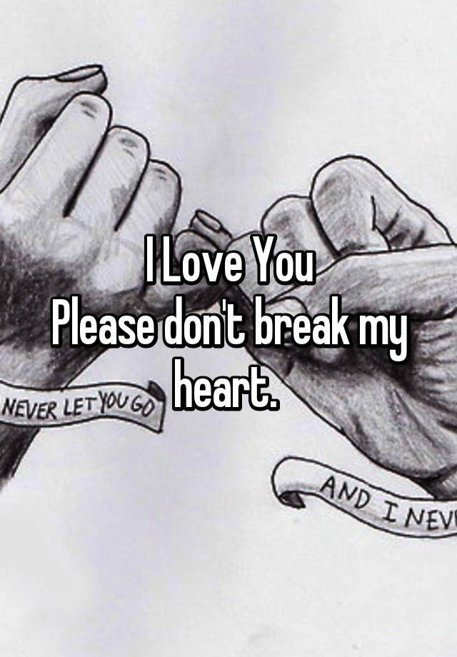 I Love You Please Dont Break My Heart