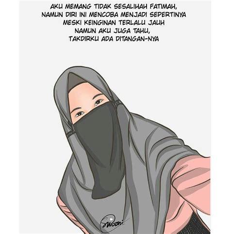 foto hijab syar  cadar kartun tutorial hijab terbaru