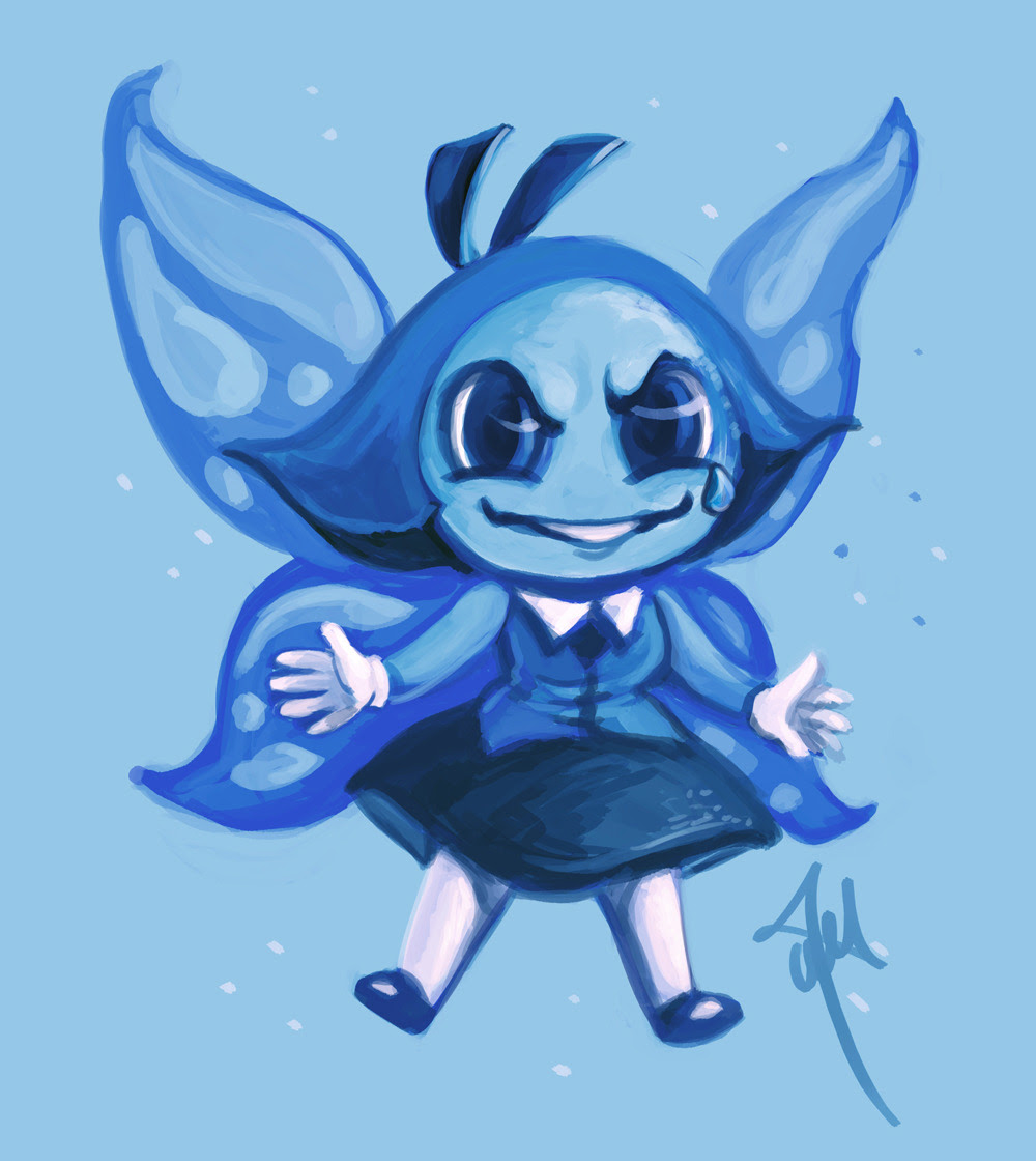 I did a quick Aquamarine. :D She's a vicious one isn't she. hope you like it ;D