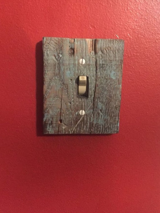 reclaimed wood light switch cover 5x5 (other sizes avaliable)