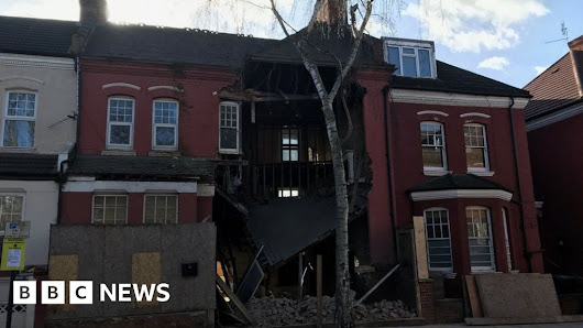 House collapses 'from roof to basement'