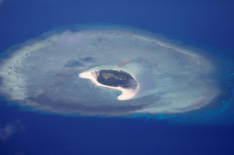 An aerial view of uninhabited island of Spratlys in the disputed South China Sea, April 21, 2017.   REUTERS/Erik De Castro