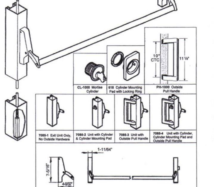 30 Panic Bar Parts Diagram