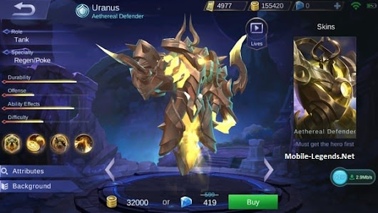 Uranus Features | Mobile Legends