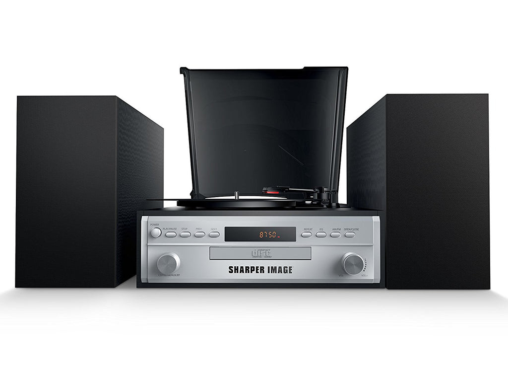 Sharper Image Turntable With Speakers Radio And Cd Bluetooth