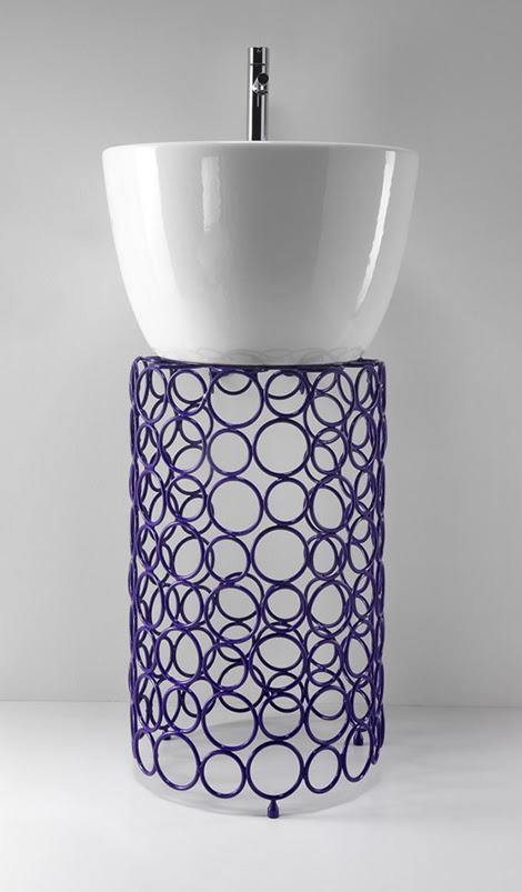Steel Bathroom Accessories - steel ring designs by OML