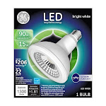 GE Light Bulb, LED, Outdoor Floodlight, Bright White, 15 Watts