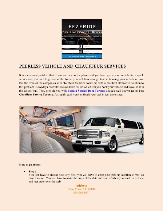 Peerless vehicle and chauffeur services
