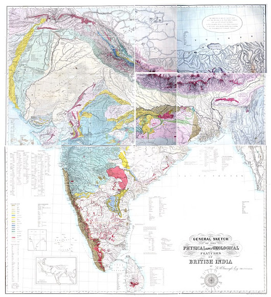 Crowdsourced Indian geology in the 1850s