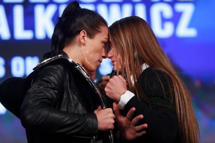 Karolina Kowalkiewicz Joanna Jedrzejczyk coletiva UFC 205 (Foto: Getty Images)
