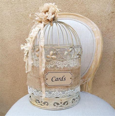 Birdcage Card Holder, Shabby Chic Birdcage, Wedding Gift