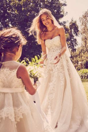 Sheer Lace and Tulle Ball Gown Wedding Dress   David's Bridal