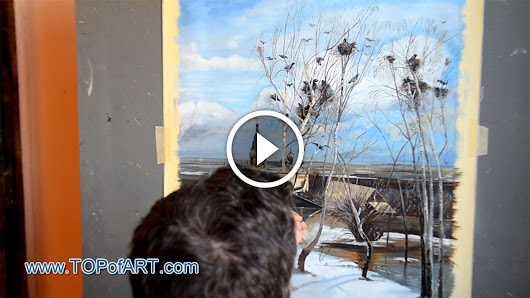 Savrasov - The Rooks Have Come - Fine Art Painting Reproduction Video by TOPofART.com