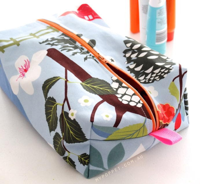 Sewing Pattern For Cosmetic Bag