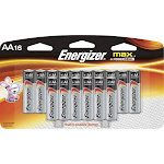 Energizer Alkaline Batteries, Max, AA - 16 batteries