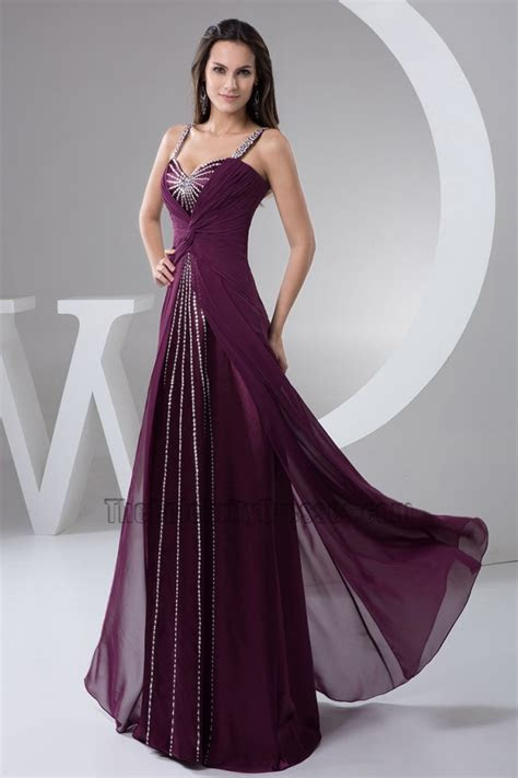 Grape Sequined Prom Gown Evening Dress   TheCelebrityDresses