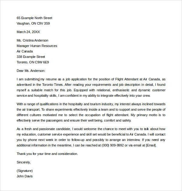 Flight Attendant Cover Letter Sample No Experience Sample Cover