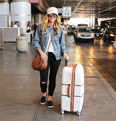 Airport Outfit, Denim Jacket Outfit, Luggage, Airport