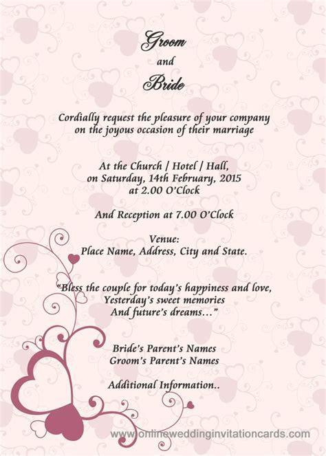 Sample Wedding Card Invitation   Wedding Gallery in 2019