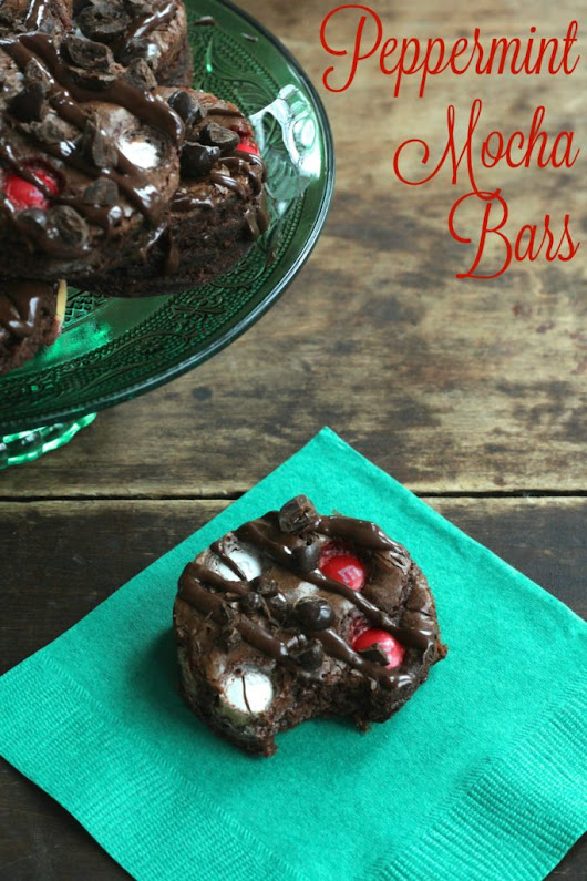 Peppermint Mocha Bars - Brittany's Pantry