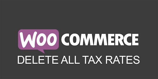 WordPress Plugin Delete WooCommerce Tax Rates - WP Cover