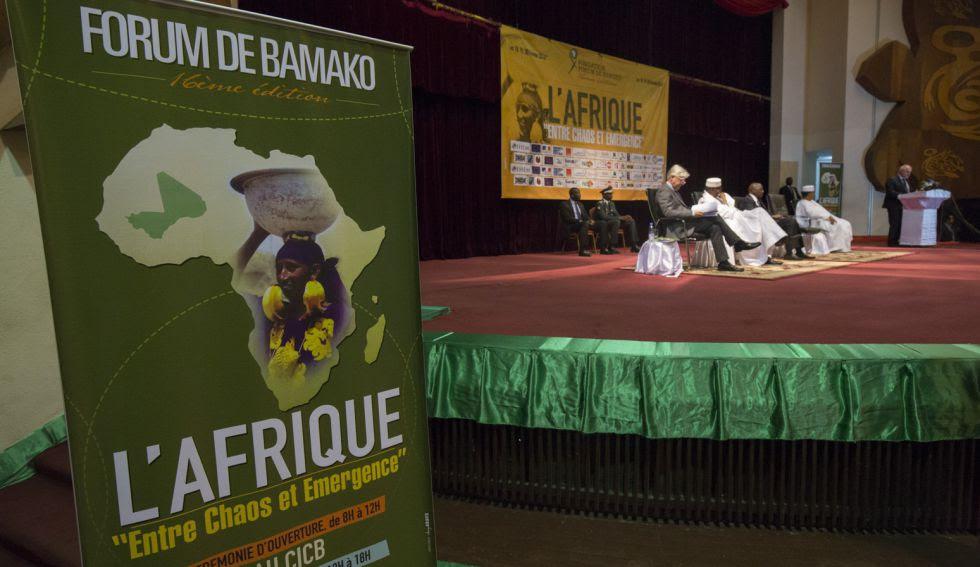 Ceremonia inaugural del Fórum de Bamako.