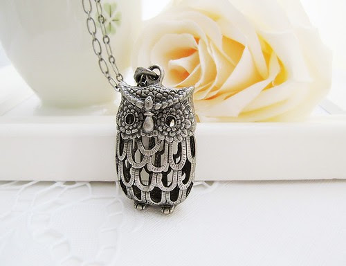 owl, jewelry, necklace, beautiful