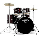 Percussion Plus PP 5-Pc DRM ST- Met Wine RD : #Pp4200Mwr