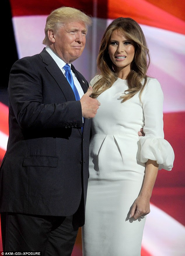 His wife Melania also took to Twitter to deny some of the womens' allegations on Thursday