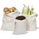 ORGANIC COTTON Reusable BULK BAGS - 2 X-LARGE | 2 Large | 2 Medium | Organic Cotton Mart