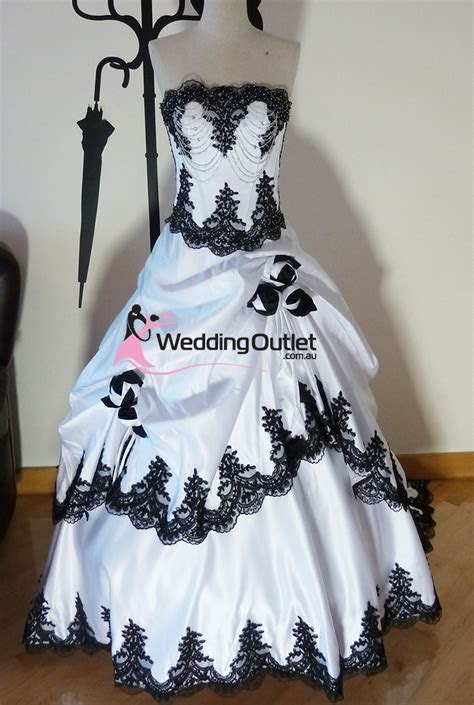 Scarlett Black and White Wedding Dresses