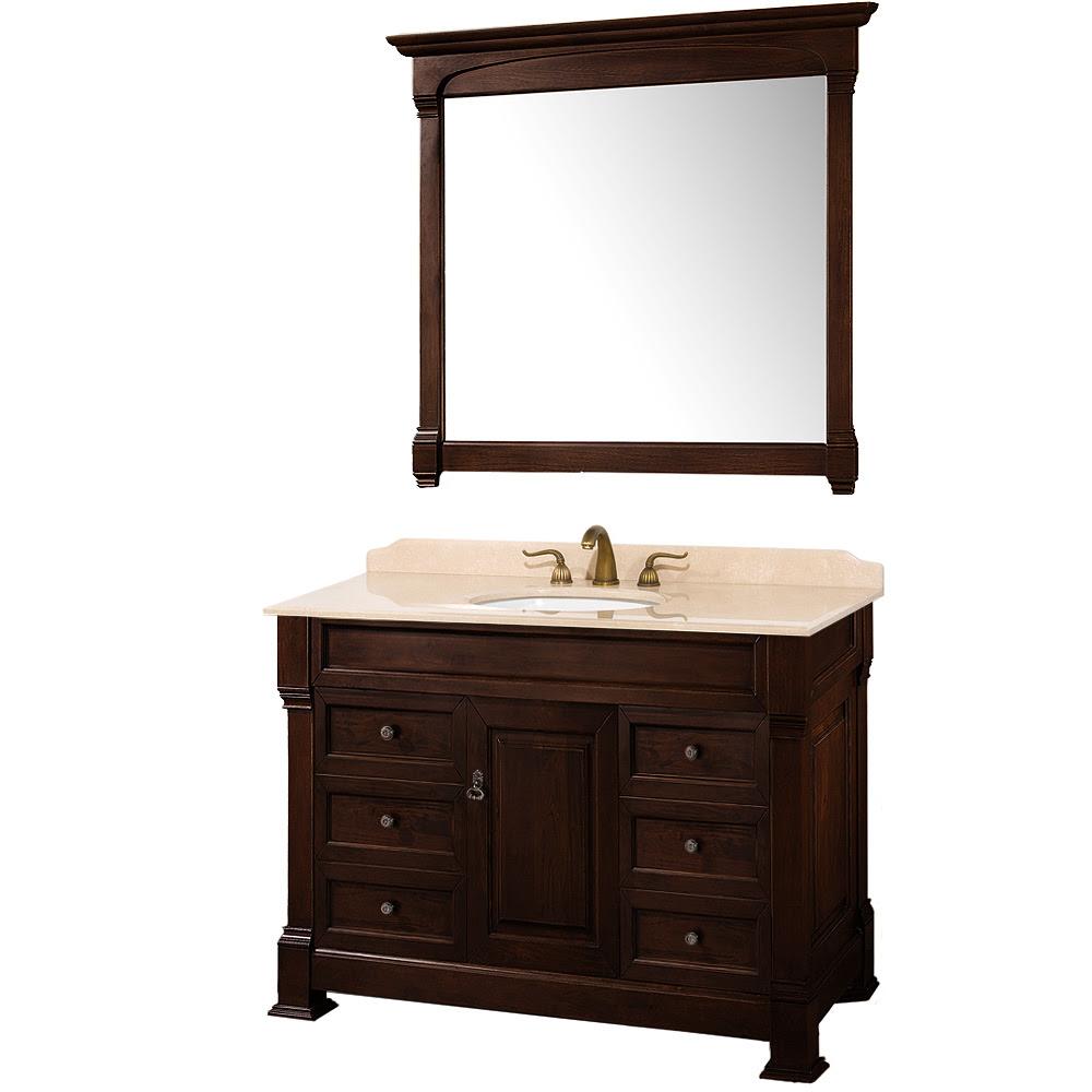 "Andover 48"" Traditional Bathroom Vanity Set by Wyndham ..."
